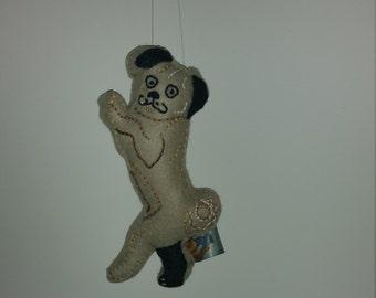 Pug Dog Art Doll