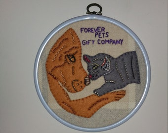 Forever pets Gift Company Logo Made-to-Order Hand Embroidery