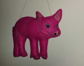 Big Pig Art Doll Made to Order