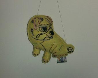 Sad/Cute Pug Dog Art Doll