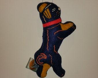 Blue Pug Art Doll