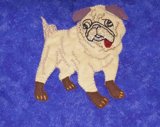 Featured listing image: Made to Order Handmade Pug Dog Cushion Cover