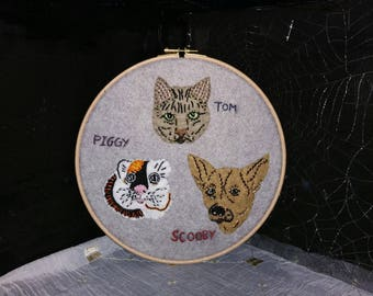 Made-to-Order Any Pet Hand Embroidery