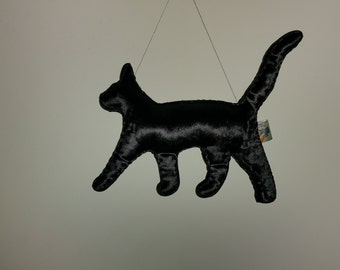 Big Black Cat Art Doll Made to Order