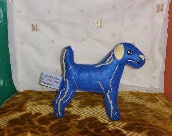Blue Hound Art Doll
