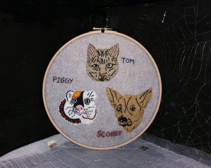 Featured listing image: Made-to-Order Any Pet Hand Embroidery