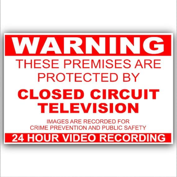 #3    PREMISES UNDER VIDEO SURVEILLANCE VINYL DECAL STICKER MANY SIZES HOME WORK