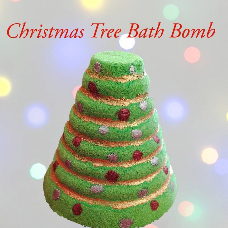 super popular ad849 bee6d Candy Cane Christmas Tree Bath Bomb, Bath Bomb Stocking Stuffer