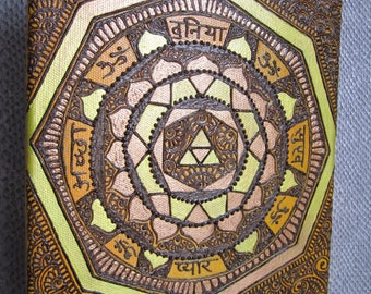 Mandala of peace, love, happiness and joy