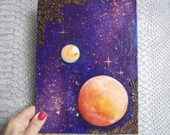 """The picture is sold!!! """"Planets in the universe"""""""