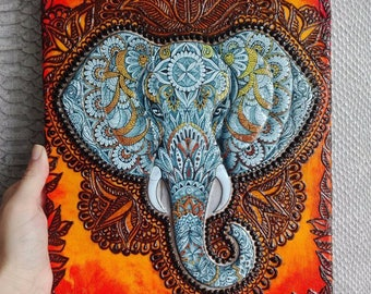 """The picture is SOLD!!! """"Indian elephant"""""""