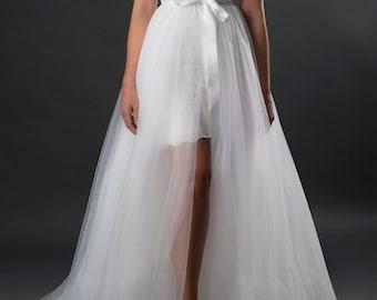 995aaa20d5 Long tulle skirt, Bridal tulle overskirt, wedding overskirt, detachable  overskirt, bridal overskirt, bridal skirt, wedding dress