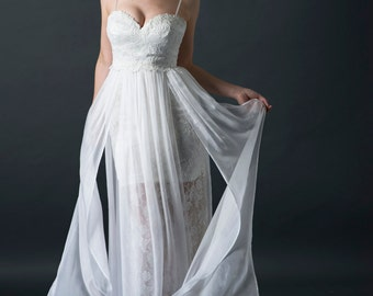 Unique Wedding Dress Lace Boho Gown Beach
