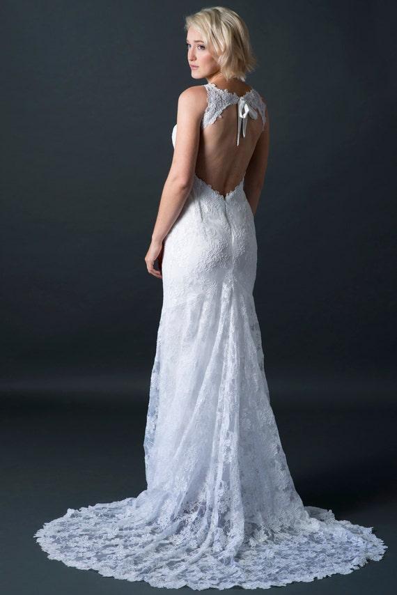 Lace Wedding Dress Lace Bridal Gown Reception Dress Wedding Etsy