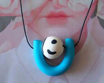Handmade Polymer Clay Necklace - Gutemala Collection - Dotty U