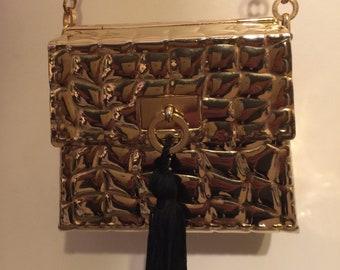 Deebie J Palmer evening bag vintage, metallic.