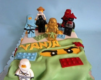 Lego Ninjago Fondant Cake Toppers For Boys Birthday