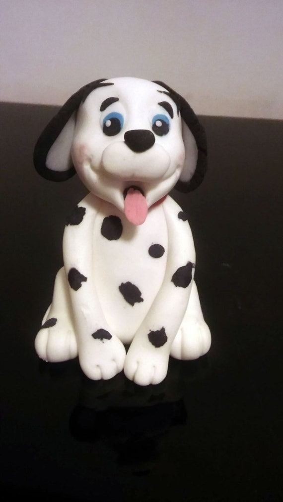 Fantastic Dalmatian Fondant Cake Topper Dog Cake Topper Cute Baby Dog Etsy Funny Birthday Cards Online Fluifree Goldxyz