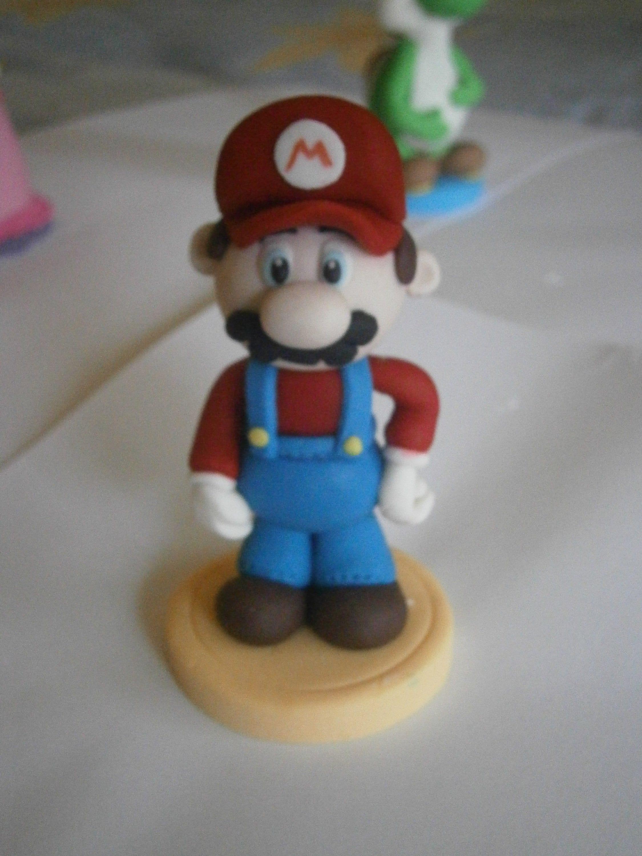 Super Mario Fondant Cake Peach Topper Mario Et Luigi Princesse