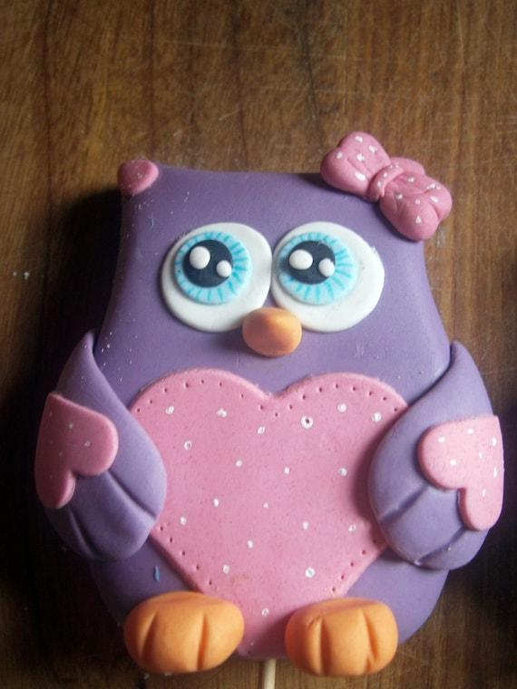 Owl Cake Topper Fondant Boys And Girls