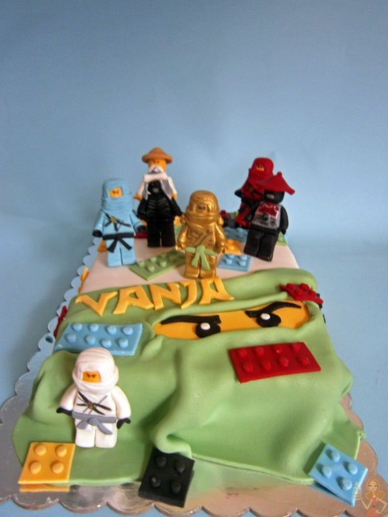 Lego Ninjago Fondant Cake Toppers For Boys