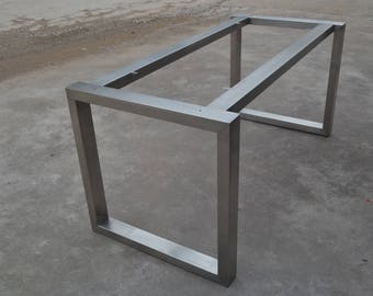 28u0027u0027 Table Base, Metal Table Legs, Industrial Style, Woodworking, Stainless  Steel, Diassembles Table Legs, Custom Dining Table Base,