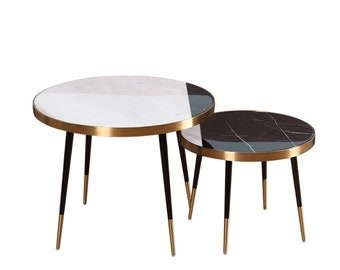 Round Marble Table Etsy