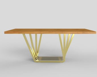 Superior Accordion Base, Metal Dining Table Legs For Sale, Solid Rose Gold, Metal  Table Legs, From IvaDecorStudio, Live Edge