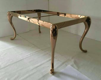 Nice Metal Dining Table Legs For Sale, Solid Rose Gold Metal Table Legs  Stainless Steel Glass From IvaDecorStudio