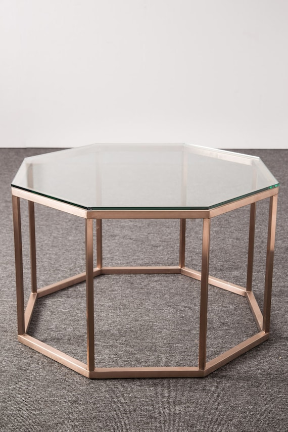 Modern Coffee Table, Hexagon Coffee Table, Home Decor, Mid Century Modern,  Table, Living Room Decor, Apartment