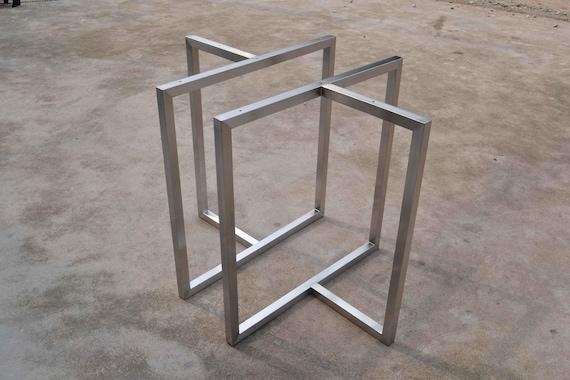 28 \' tabella di Base, gambe tavolo in metallo staffa, stile industriale,  lavorazione del legno, in acciaio inox, gambe tavolo Diassembles, Base  tavolo ...