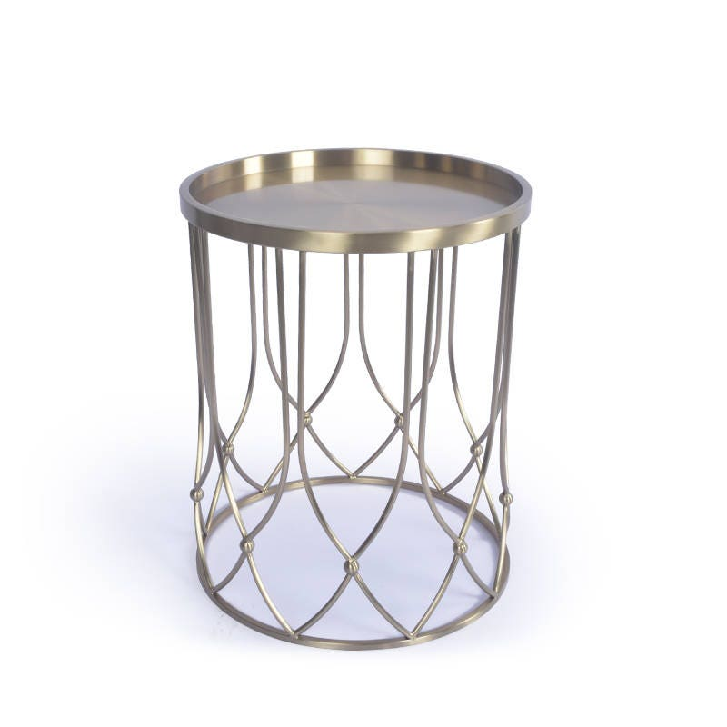 Etsy Round Coffee Tables: Round Gold Color Coffee Table Metal Coffee Table Round