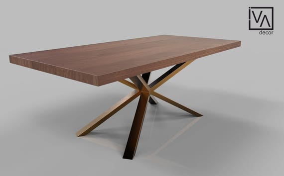 Spider Base Metal Dining Table Legs For Sale Solid Rose Gold Etsy
