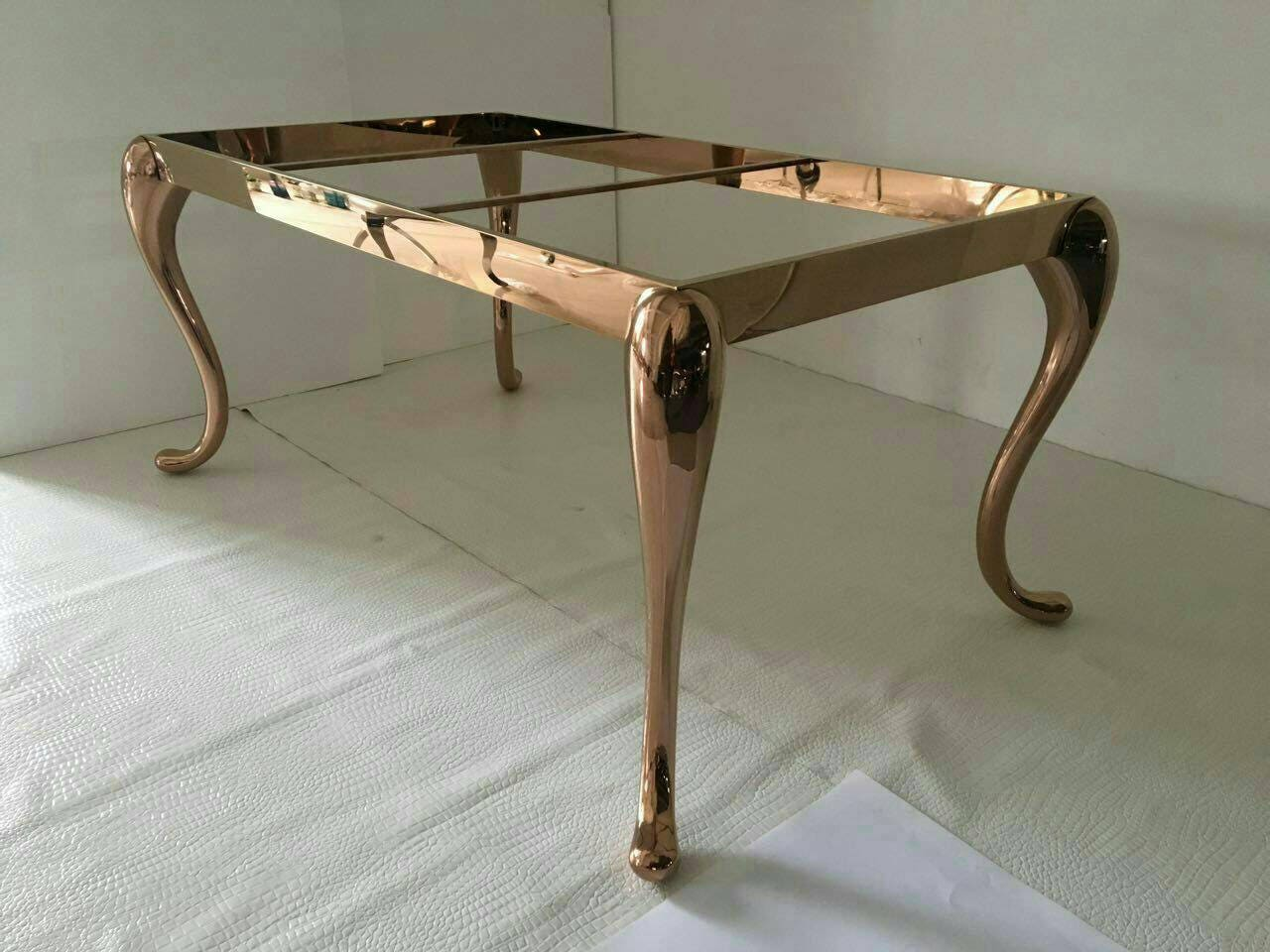 Metall Esstisch Tischbeine zum Verkauf massivem Rose Gold | Etsy