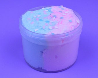 Cotton Candy Sunsets Cloud Slime! Fairy Floss Scented Blue and Pink Cloud Slime!