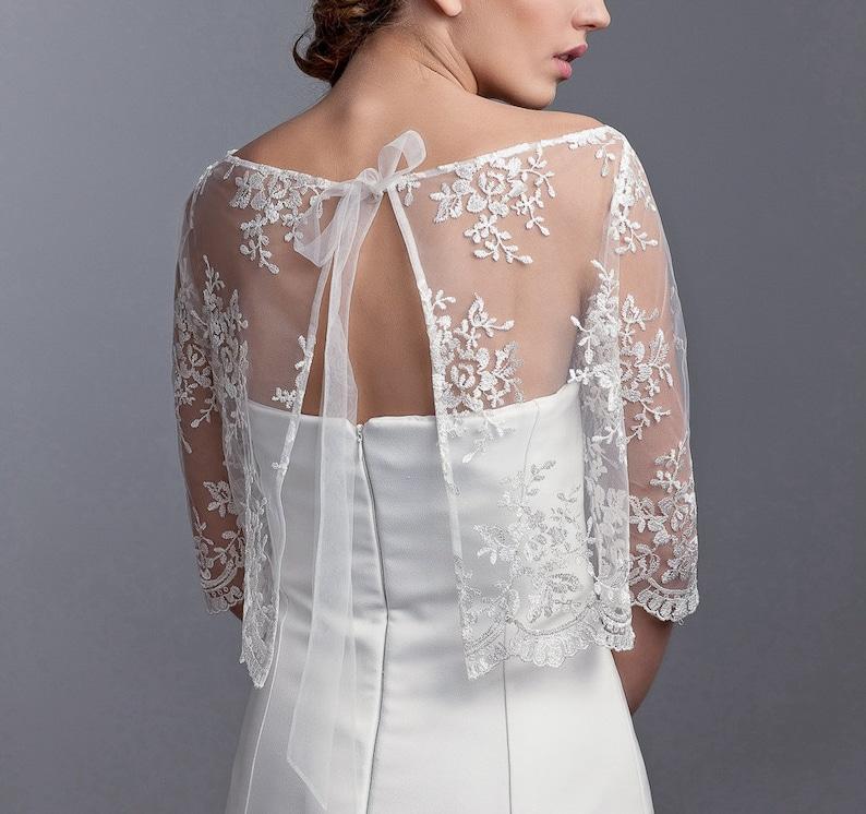 cba0d73ea8 Bridal lace bolero bridal jacket lace topper bridal lace