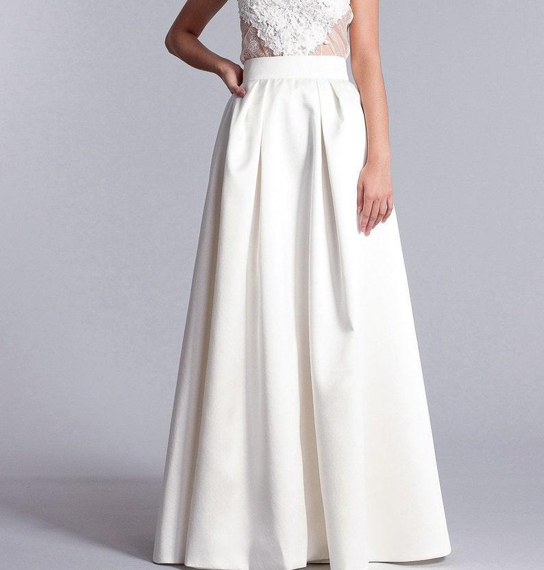 online retailer 55ac6 7afef Braut-Rock, lange weißen Rock, hohe taillenrock, Braut trennt, lange Braut  Rock in weiß oder Elfenbein