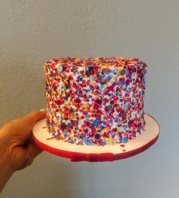 Enjoyable Fake Birthday Cake For Display Rainbow Sprinkle 6 Etsy Personalised Birthday Cards Fashionlily Jamesorg