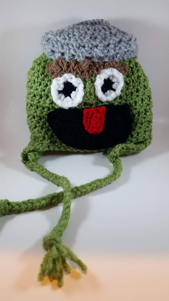 beb679da161 Oscar the Grouch Crochet Hat