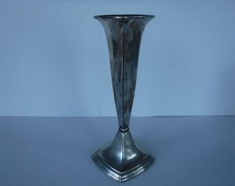 Forbes S.P. Co. Silver Plated Bud Vase Patina