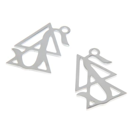 5pcs//lot Lilith Pendant Black Moon Logo Luna Emblem Amulet Charm pendant 27x11mm