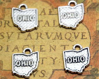 10pcs ohio charms silver tone ohio charms pendants 17mm x 15mm ASD2241