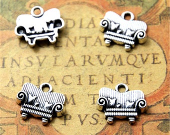20pcs sofa Charms silver tone sofa Charms pendants 14x16mm ASD2207