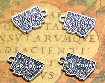 10pcs arizona charms silver tone arizona charms pendants 13mm x 19mm ASD2243