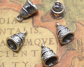 20pcs peter pan thimble Charms silver tone 3D thimble charm pendant 14x10mm ASD2014