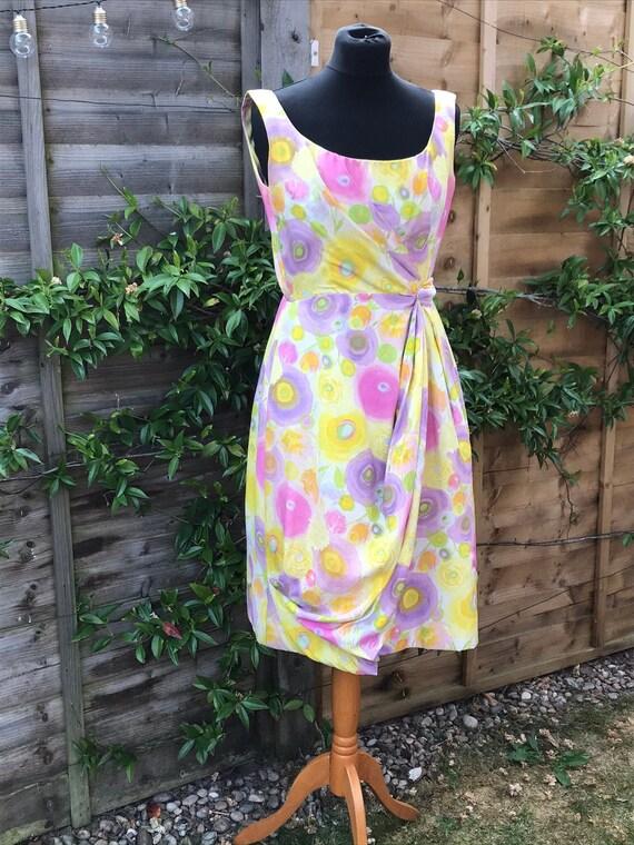 1950's Vintage Sarong Style Handmade Dress