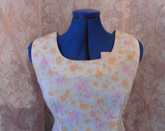 1960's Vintage Pretty Floral handmade Mod/Scooter Dress