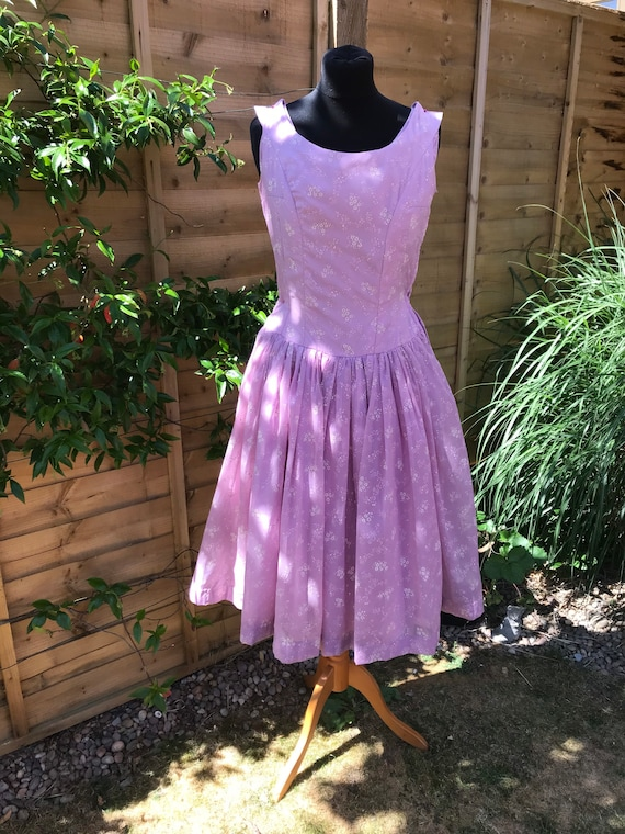 1950's Vintage Handmade Sheer Lilac Dress