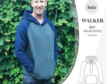 Raglan hoodie for men   raglan top for men pdf sewing pattern with a  tutorial   instant download 9e2756d82