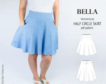 bb9909fac Half circle skirt sewing pattern pdf /PDF sewing patterns for women /  sewing pattern with pdf sewing tutorial. SinclairPatterns 5 out of ...